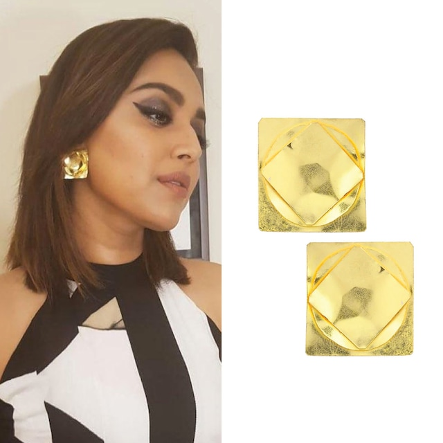 Gold finish Ungeometric Studs by Eurumme Jewellery