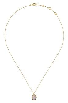 Gold Vermeil Finish Labradorite Necklace by Carrie Elizabeth