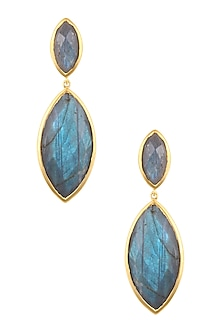 Gold Vermeil Finish Labradorite Earrings by Carrie Elizabeth