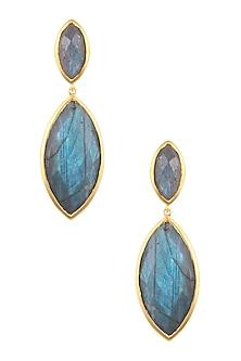 Gold Vermeil Finish Labradorite Earrings by Carrie Elizabeth
