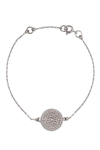 Silver Vermeil Finish Aztec Disc Bracelet by Carrie Elizabeth
