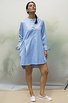 Sky Blue Tunic With Cord Tie-Up by Chillosophy