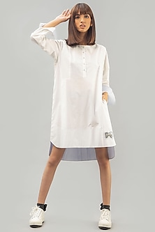 White Tunic With Pop Art Detailing by Chillosophy