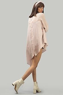 Blush Pink Tunic With Handmade Buttons by Chillosophy