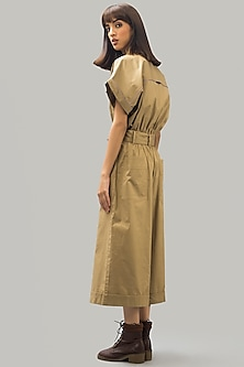 Beige Jumpsuit With Belt by Chilosophy