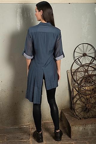 Cobalt Blue Shirt Dress by Chillosophy