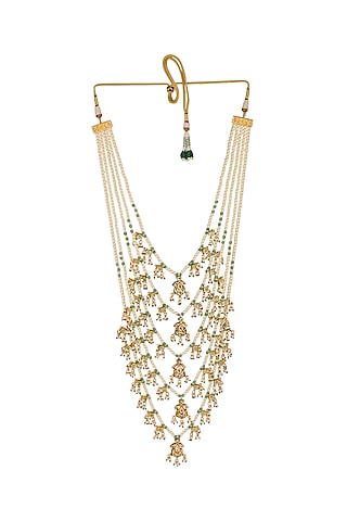 Gold Finish Layered Necklace Set by Chhavi'S Jewels