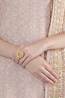 Gold Finish Nickel Free Ring by Chhavi's Jewels