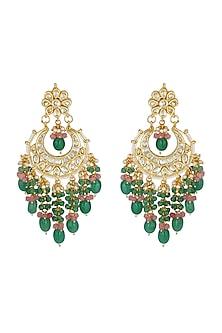 Gold Finish Chandbali Earrings by Chhavi's Jewels