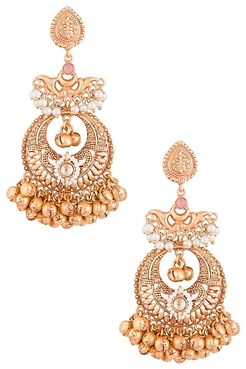 Gold Plated Earrings by Chhavi's Jewels
