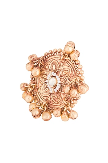 Gold Plated Oversized Ring by Chhavi's Jewels