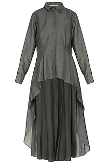 Charcoal grey cascade tunic by Chillosophy