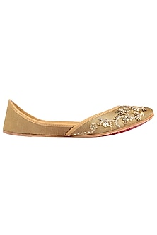 Gold Embroidered Juttis by Coral Haze