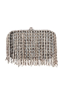 Black Hand Embroidered Clutch by Clutch'D