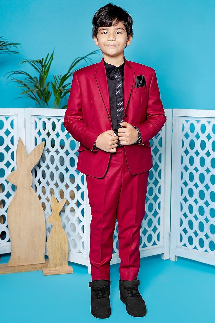 Reddish Wine Suit Set by Little Boys Closet