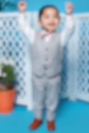 Grey Waistcoat Set by Little Boys Closet