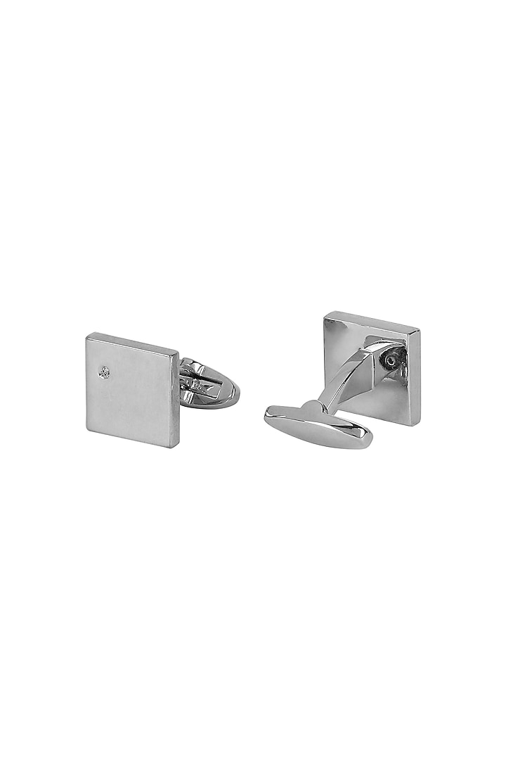 Silver Metal Cufflinks by Closet Code