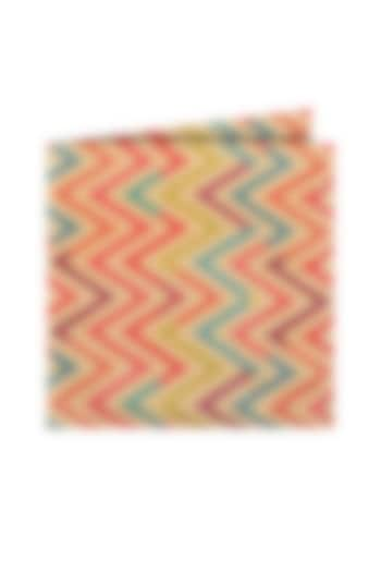 Multi Colored Printed Pocket Square by Closet Code