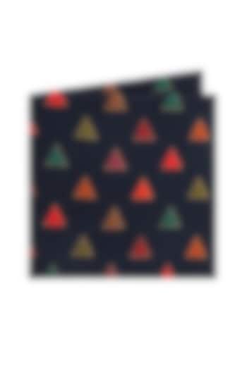 Blue Printed Pocket Square by Closet Code