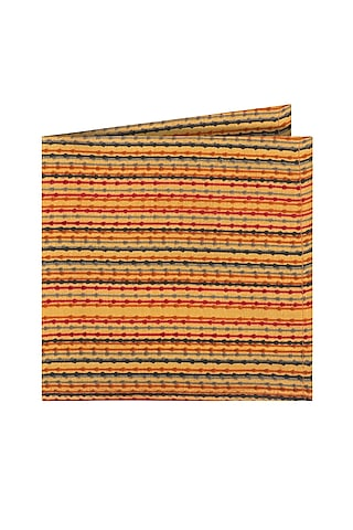 Yellow Cotton Pocket Square by Closet Code