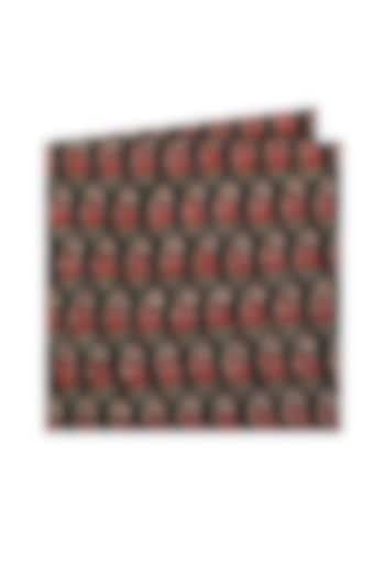 Black Paisley Pocket Square by Closet Code