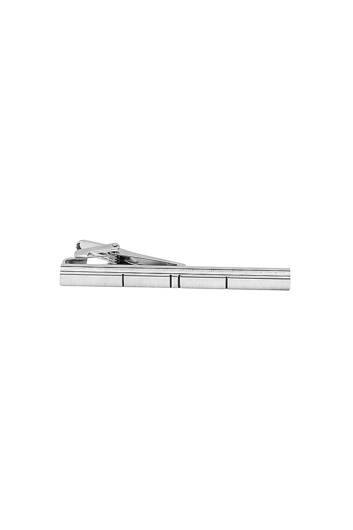 Black & Silver Tie Bar Pin by Closet Code