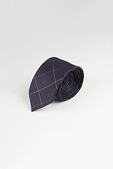 Purple Cotton Plaid Tie by Closet Code
