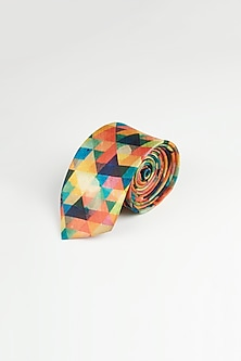 Multi Colored Printed Tie by Closet Code