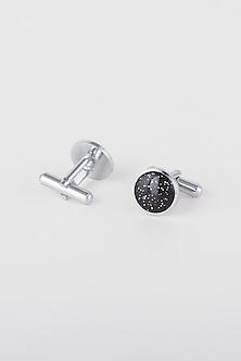 Black & Silver Cufflinks by Closet Code