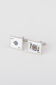 Silver Card Lover Cufflinks by Closet Code-GIFTS FOR HIM