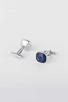 Blue Metal & Stone Cufflinks by Closet Code