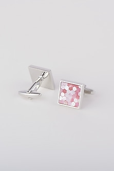 Pink Mother Of Pearl Cufflinks by Closet Code