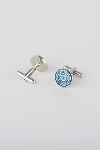 Turquoise Enamel Cufflinks by Closet Code