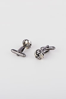 Black Two Toned Cufflinks by Closet Code