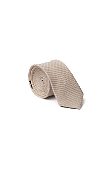 Cream Self-Textured Tie by Closet Code