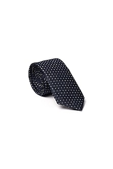 Blue Polka Dotted Tie by Closet Code