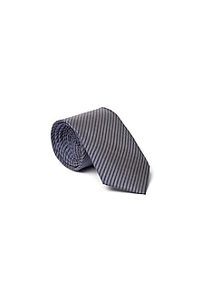 Blue Stripes Printed Tie by Closet Code