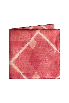 Red Cotton Silk Pocket Square by Closet Code