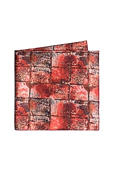 Red Cotton Satin Pocket Square by Closet Code