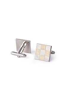 Gold & Silver Finish Cufflinks by Closet Code