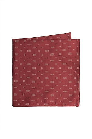 Red Cotton Pocket Square by Closet Code