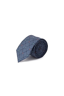 Blue Cotton Classic Tie by Closet Code