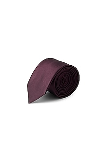 Purple Polyester Shimmery Tie by Closet Code