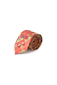 Pink Psychedelic Printed Tie by Closet Code