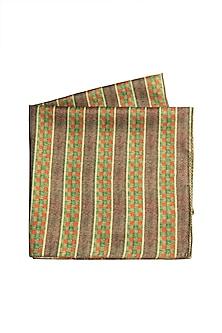 Green Vibrant Printed Pocket Square by Closet Code