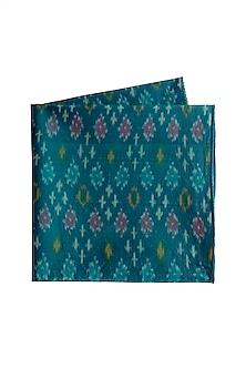 Bright Blue Ikat Pocket Square by Closet Code