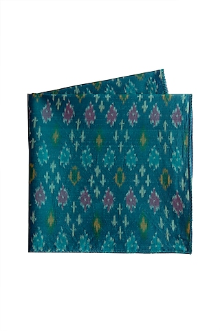 Bright Blue Ikat Pocket Square by Closet Code