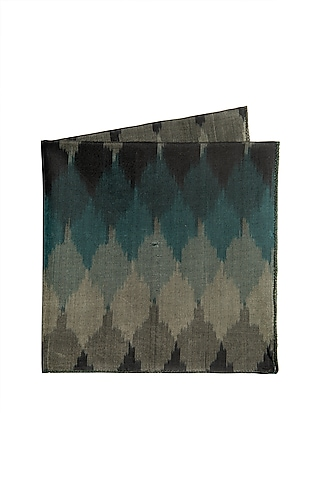 Midnight Blue Ikat Pocket Square by Closet Code