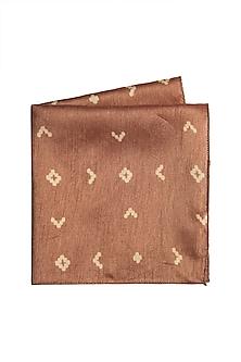 Copper Cotton Silk Pocket Square by Closet Code