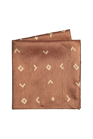 Copper Cotton Silk Pocket Square by Closet Code